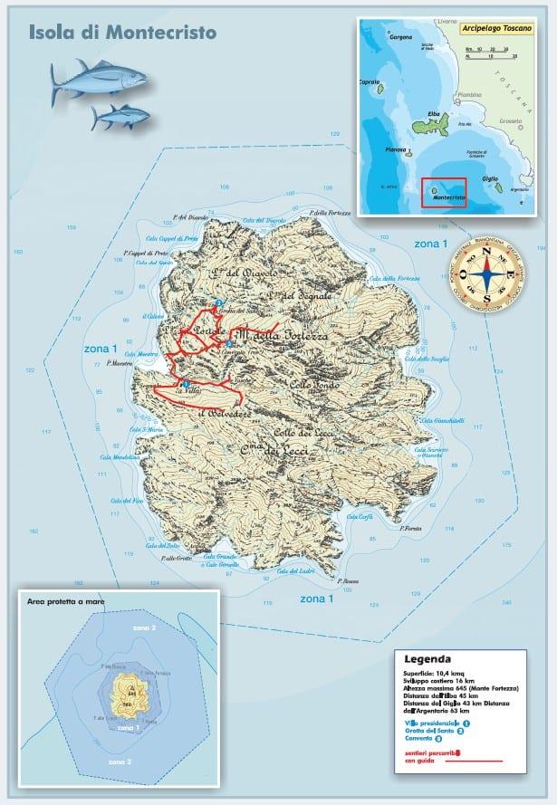 mappa montecristo